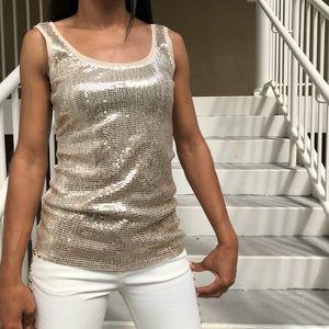 Glittery Gold Sequin Tank WHBM